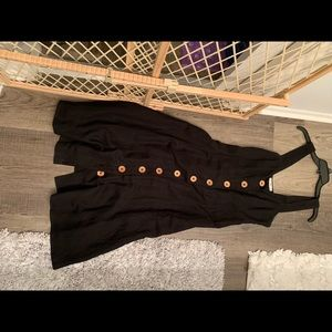 Mango button front dress